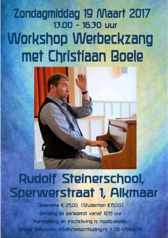 Workshop Werbeckzang met Christiaan Boele in Alkmaar